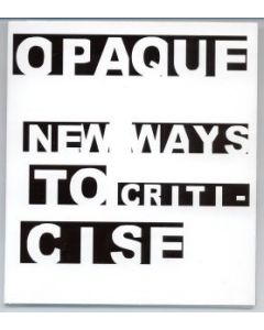 OPAQUE - CoN008 - UK - Consume - CD - New Ways To Criticise