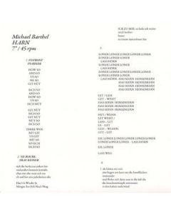 "MICHAEL BARTHEL - Hode 160 - Germany - Scrotum Records - 7"" - Harn"